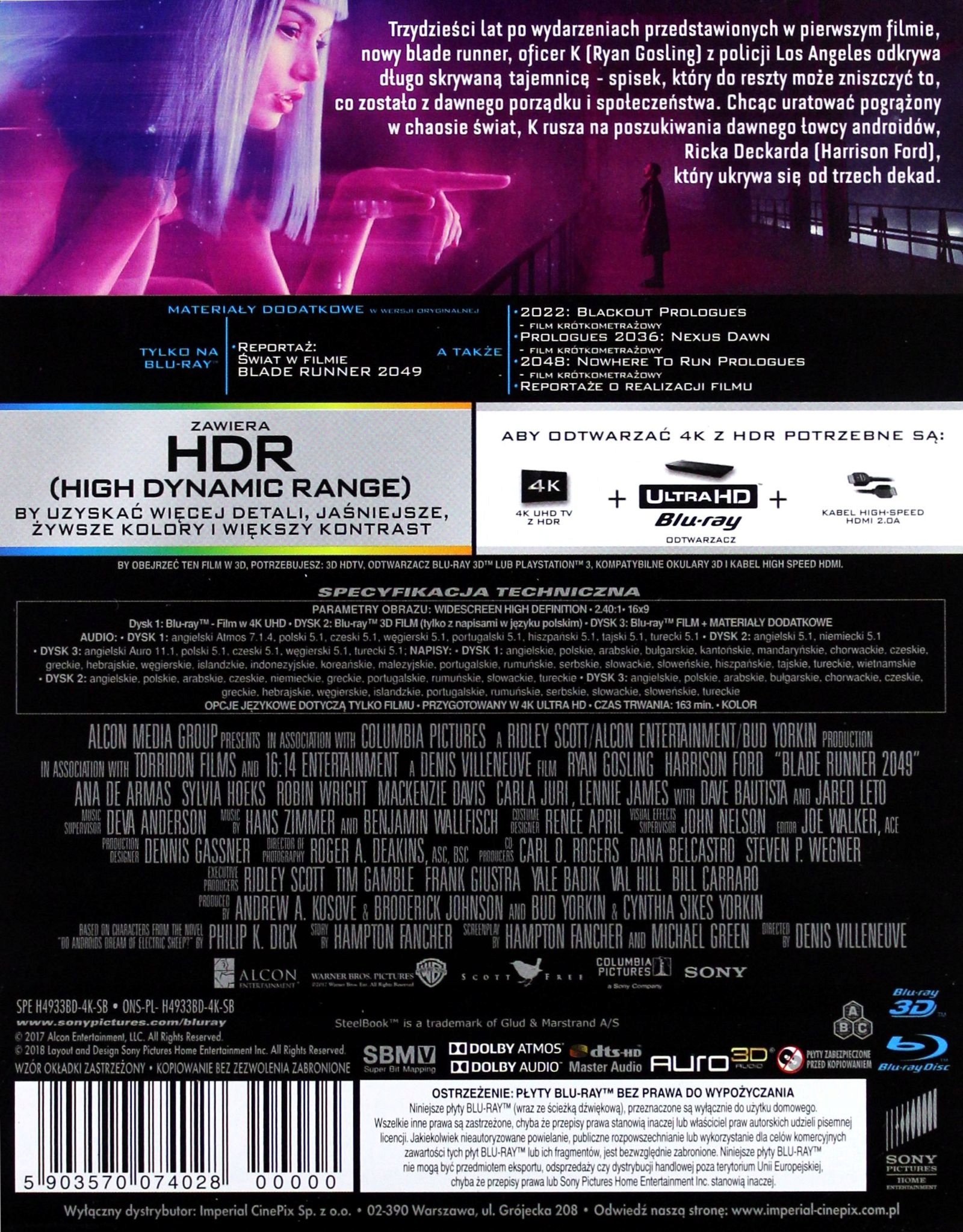 Blade Runner 2049 (2017) - Film 4K Ultra-HD