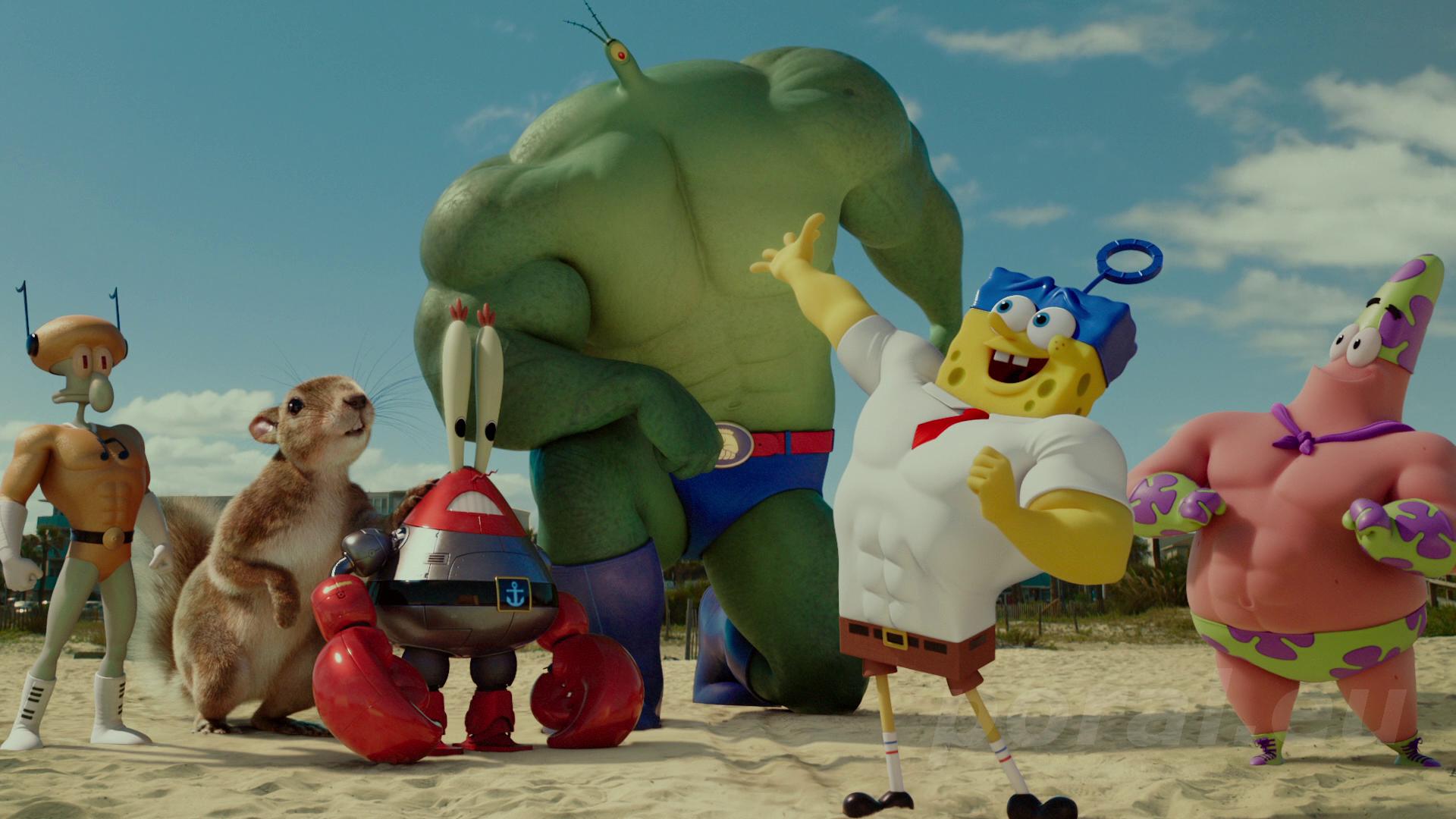 The spongebob movie sponge out of water sandy